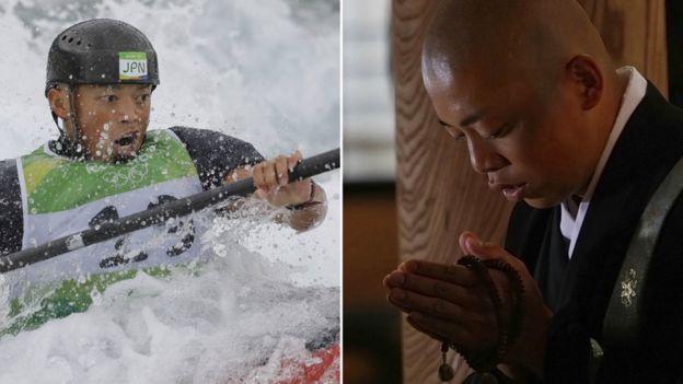 Kazuki Yazawa combina su vida entre el budismo y el canotaje