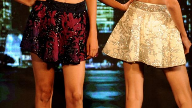India models wearing skirts