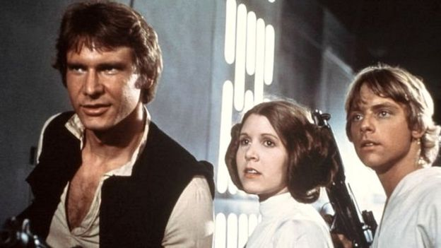 Harrison Ford, Carrie Fisher y Mark Hamill