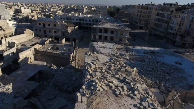 Mji wa Aleppo umekumbwa na uharibifu mkubwa