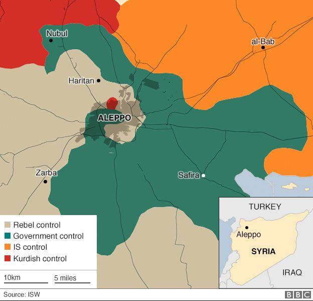 Aleppo è un punto cruciale nella guerra in Siria