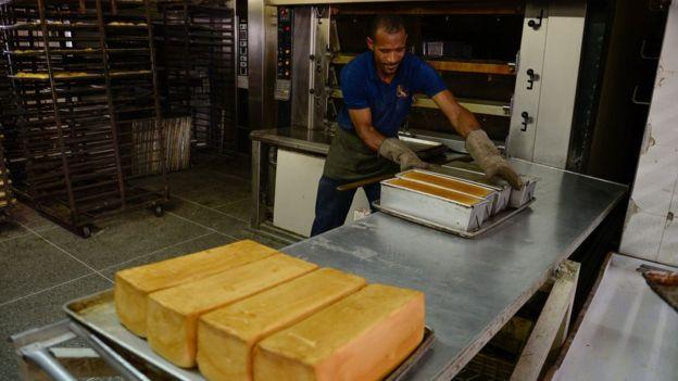 Un horno de panadería