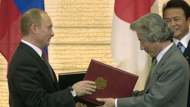 Путин, Япония