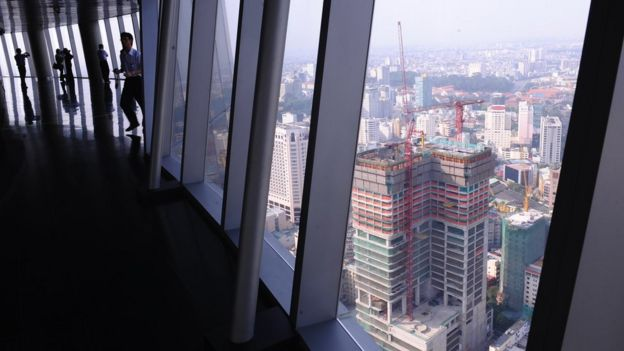 Internal view of Bitexco Financial Tower