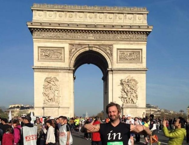 A member of the James Walker 100 team completes the Paris Marathon