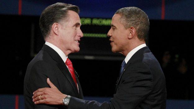 Mitt Romney y Barack Pbama