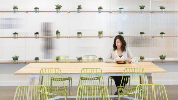 El café en las oficinas centrales de Adobe, en San José, California