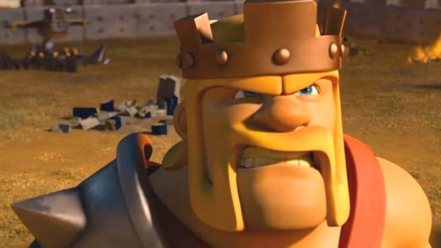 Evil king from Clash of Clans game