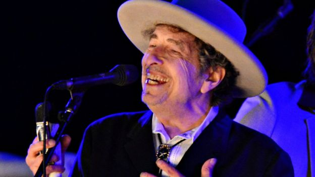 Bob Dylan on stage in 2012