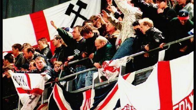 Hooligans ingleses en 1995