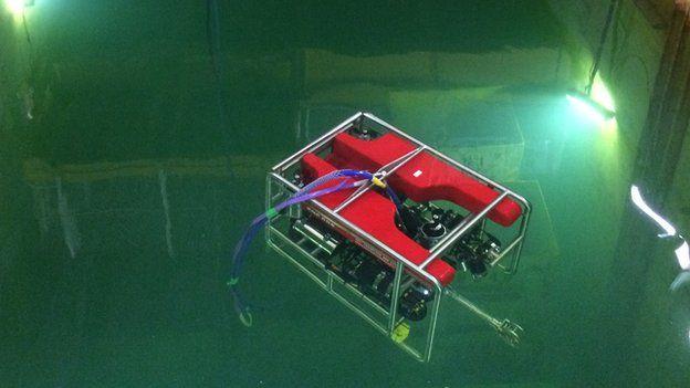 Robot in water tank