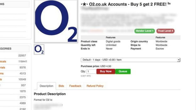 O2 customer data sold on dark net ilicomm Technology Solutions