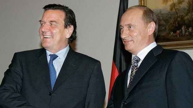 Gerhard Schroeder y Vladimir Putin
