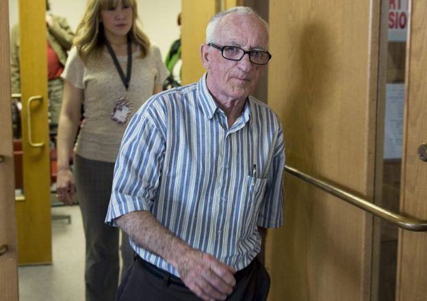 Fred Weeks leaves the trial of Melissa Ann Shepard in Sydney, Canada, on 10 June 2013.