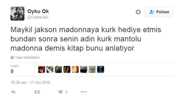 Twitter Kürk Mantolu Madonna tepkisi