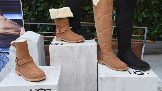 A display of ugg boots