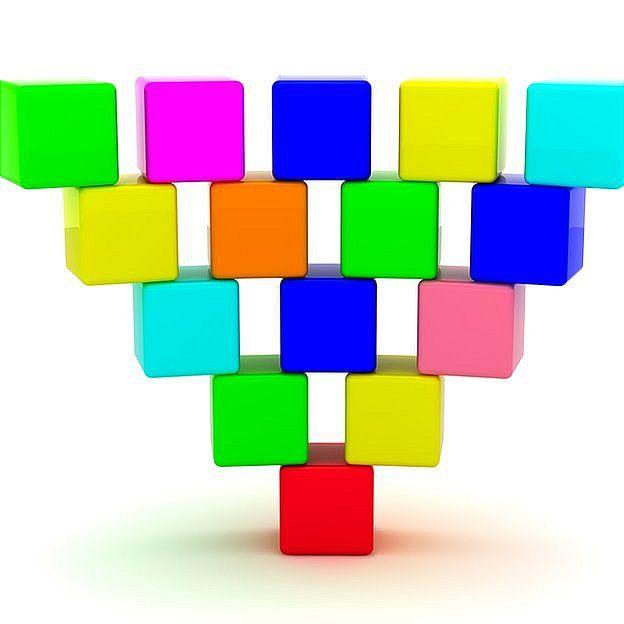 Abajo verás qué queda en el lugar del cubo rojo. Thinkstock