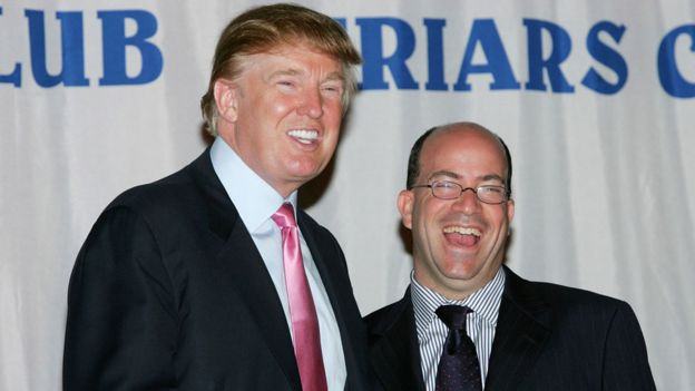 Donald Trump with Jeff Zucker in 2004