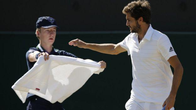 Tenista en Wimbledon