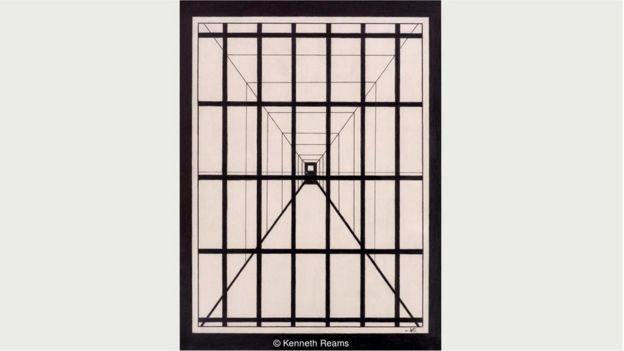 Римс обращается к вопросу смертной казни напрямую, однако намеренно рисует абстрактные образы, как в этой картине под названием
