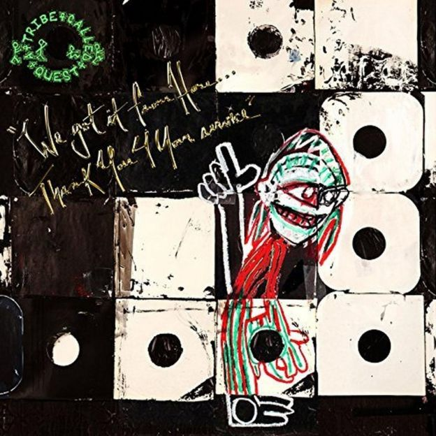 The cover for A Tribe Called Quest's album We Got It From Here... Thank You 4 Your Service