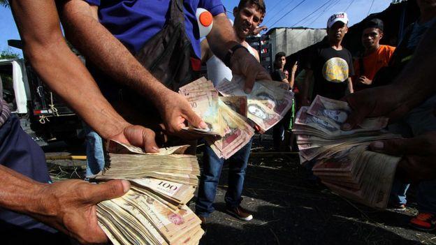 Notas de bolívares na Venezuela