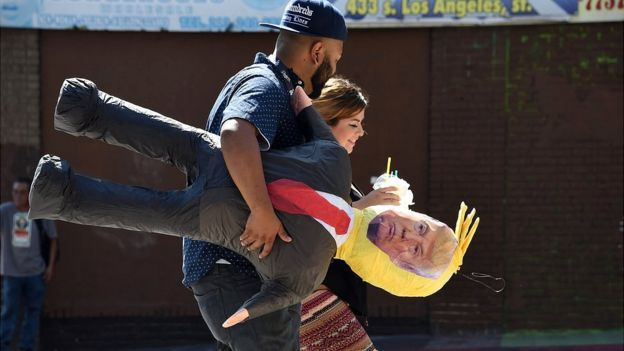 Piñata de Donald Trump