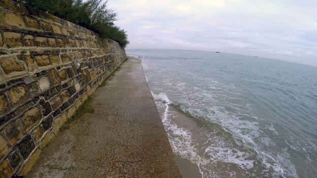 Borde del mar de Cowes.