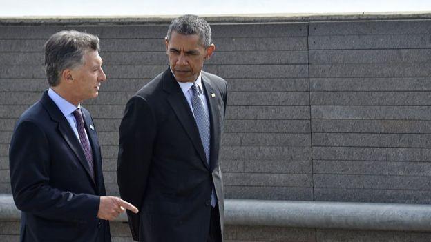 Mauricio Macri y Barack Obama