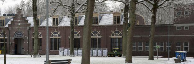 Snowy scene in Veenhuizen