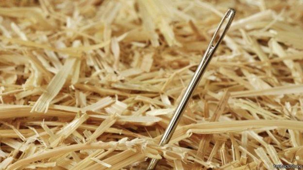 samanlıkta iğne