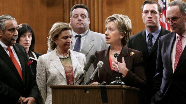 Hillary Clinton cuando era senadora de Nueva York