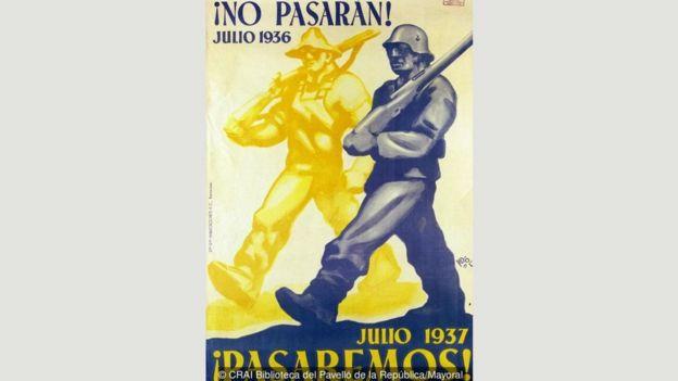Ramon Puyol'un İspanya İç Savaşı'nda Cumhuriyetçiler için yaptığı 'Geçit Yok!' afişi
