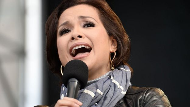 Lea Salonga performs at a New York music festival