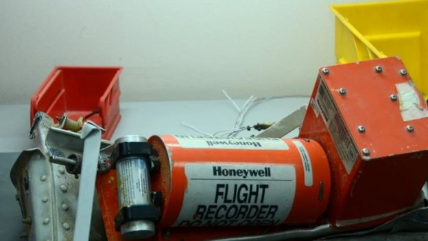 One of the two black boxes retrieved from the wreckage of the Russian plane that crashed in Egypt
