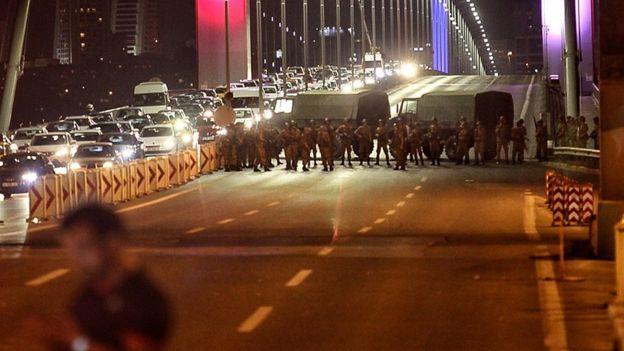 Puente del Bósforo bloqueado