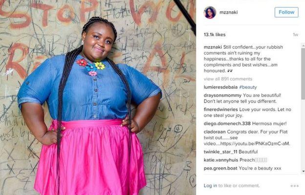Tetteh's defiant post on Instagram