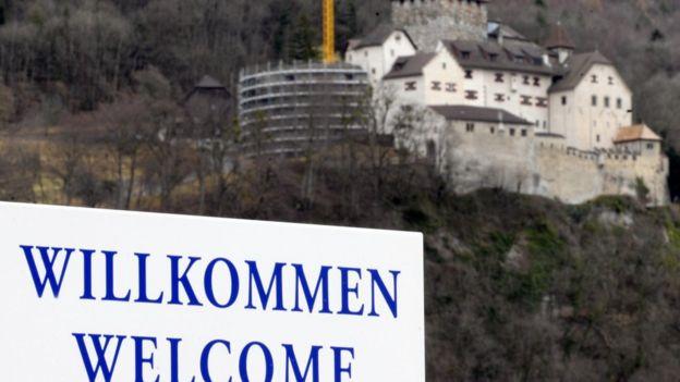 Placa de recepção em Liechtenstein
