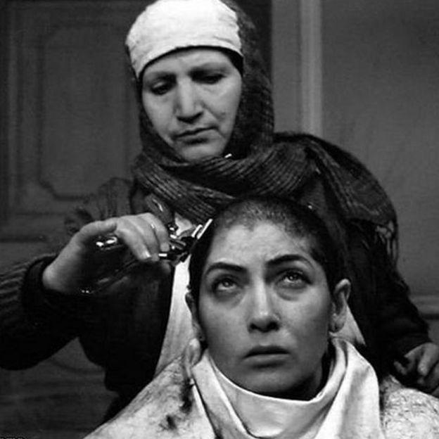 فریماه فرجامی در نمایی از فیلم سرب