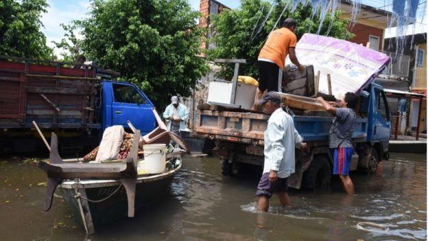 Floods in Asuncion, Paraguay