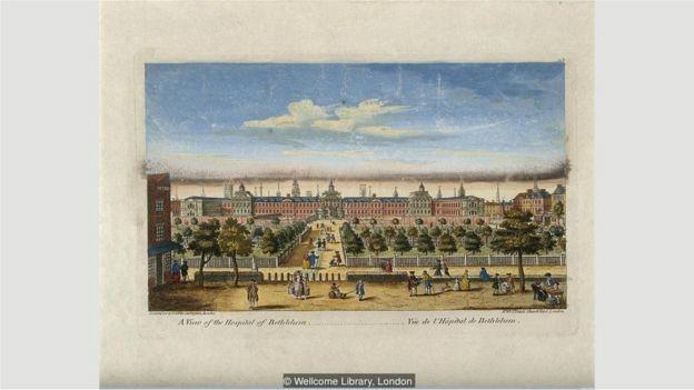 Khi được xây lại vào năm 1676, Bethlem trông giống Cung điện Versailles hơn là một bệnh viện tâm thần