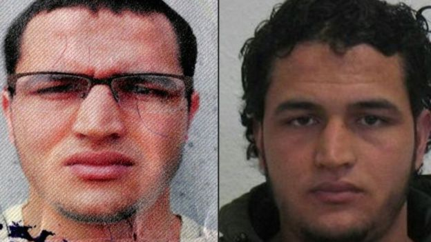 Two pictures of the Tunisian man identified as Anis Amri (21 December 2016)