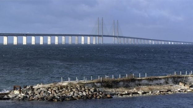 Oresund Bridge, linking Denmark and Sweden