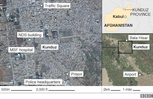 Kunduz map