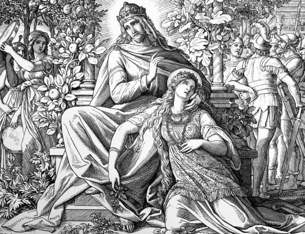 Imagem do pintor alemão Julius Schnorr von Carolsfeld representando o rei Salomão