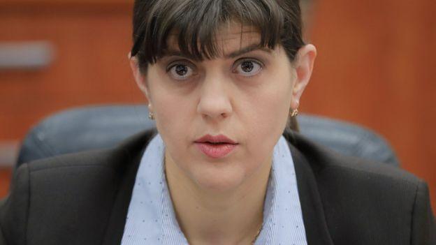 Laura Kovesi, directora de la Dirección Nacional Anticorrupción de Rumania.