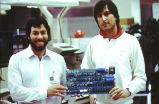 Steve Wozniak and Steve Jobs