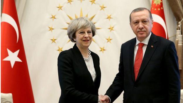 İngiltere Başbakanı Therese May ve Cumhurbaşkanı Recep Tayyip Erdoğan