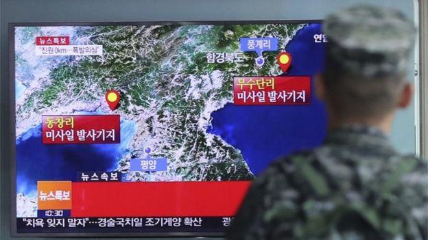 Informes de TV sobre los sismos durante la prueba nuclear el 9 de septiembre