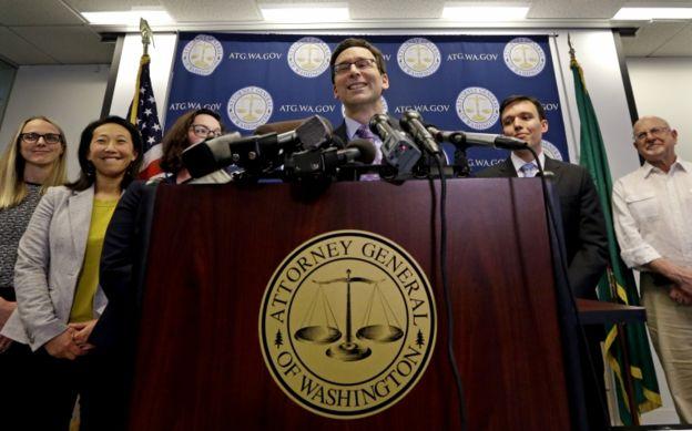 Los abogados del estado de Washington celebraron la decisión del tribunal de apelaciones.
